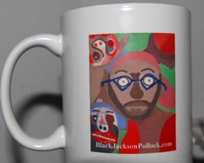 The Black Jason Pollock Coffee Mug