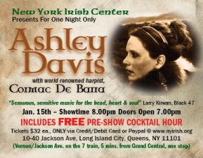 Celtic singer Ashley Davis returns to New York