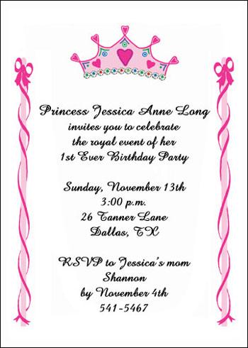 Child Birthday Party Invites