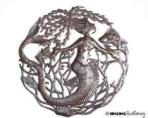 Are Mermaids Real In Haitian Metal Oil Drum Art The
