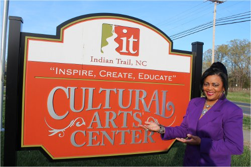 Kym Gordon Moore, Poetry Moderator at the Indian Trail Cultural Arts Center