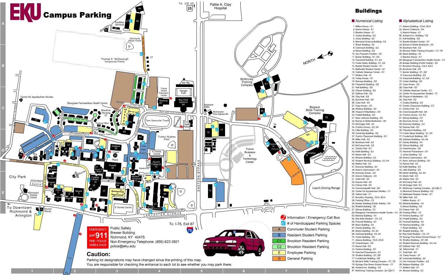 Map Eku Whitlock Building