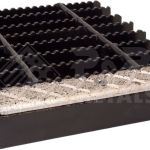 19 W 4 Carbon Steel Bar Grating Stair Treads 100 30 Serrated 1 Deep X 30 Long