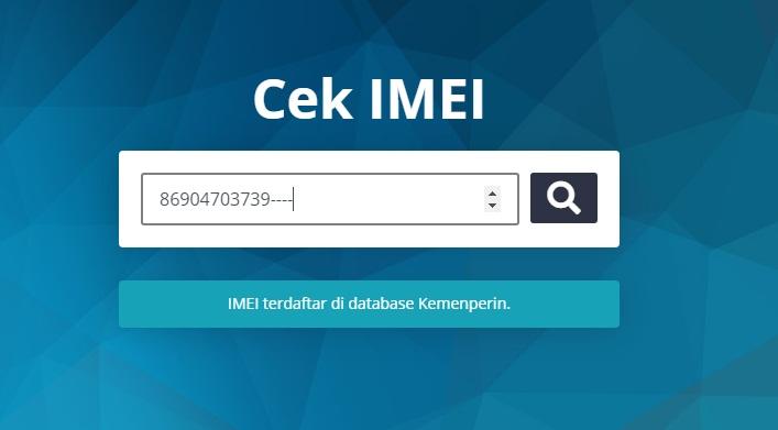 IMEI Terdaftar
