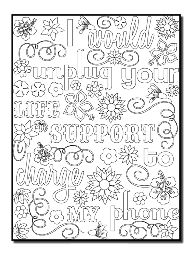 Funny Adult Coloring Pages Printable And Free