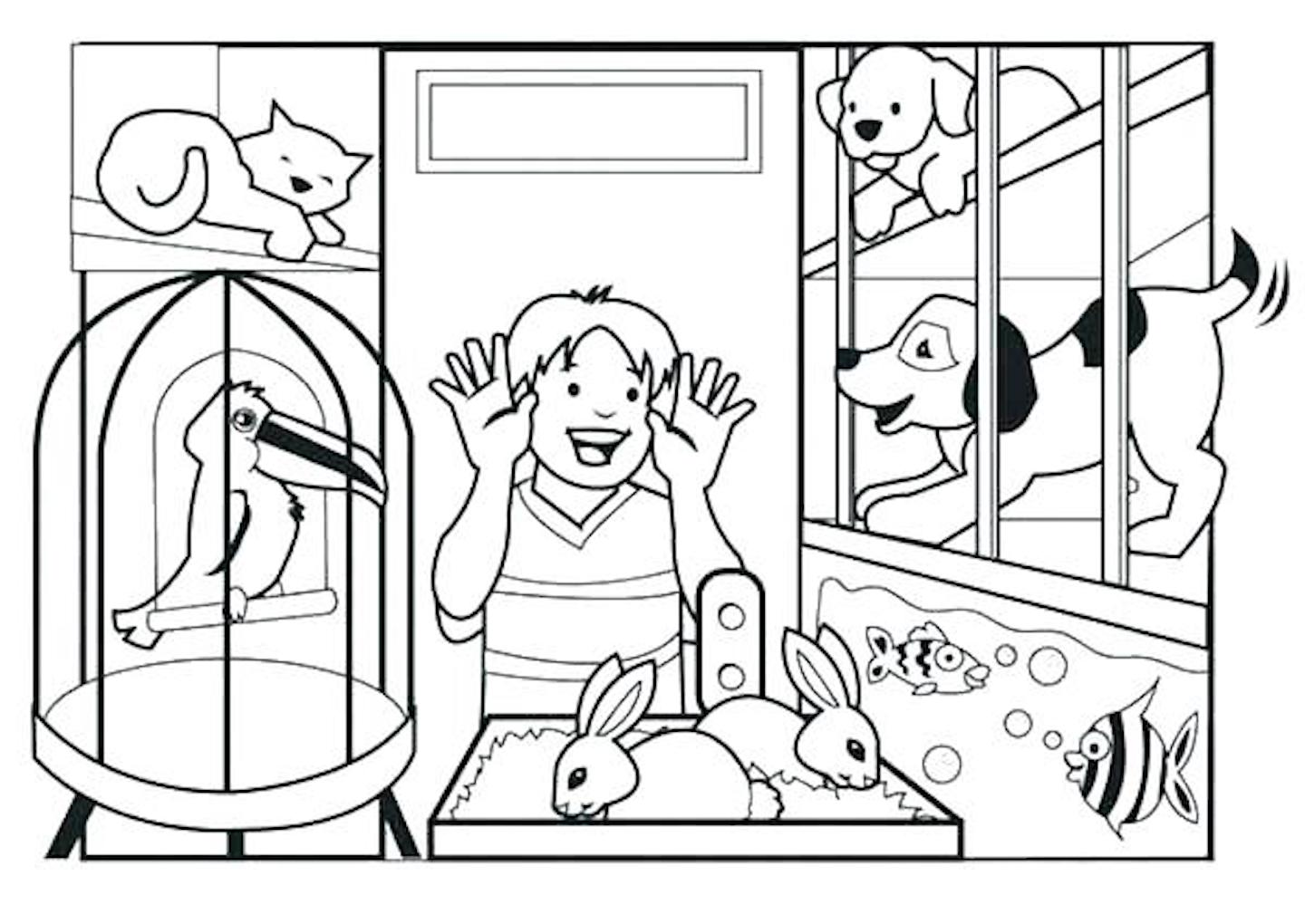 Pet Animal Coloring Pages And Dozens More Themed Coloring