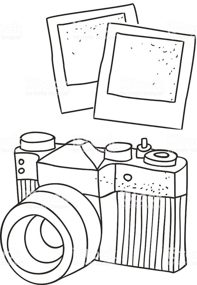 Camera Clipart, Coloring Pages, And Other Free Printable Design Themes