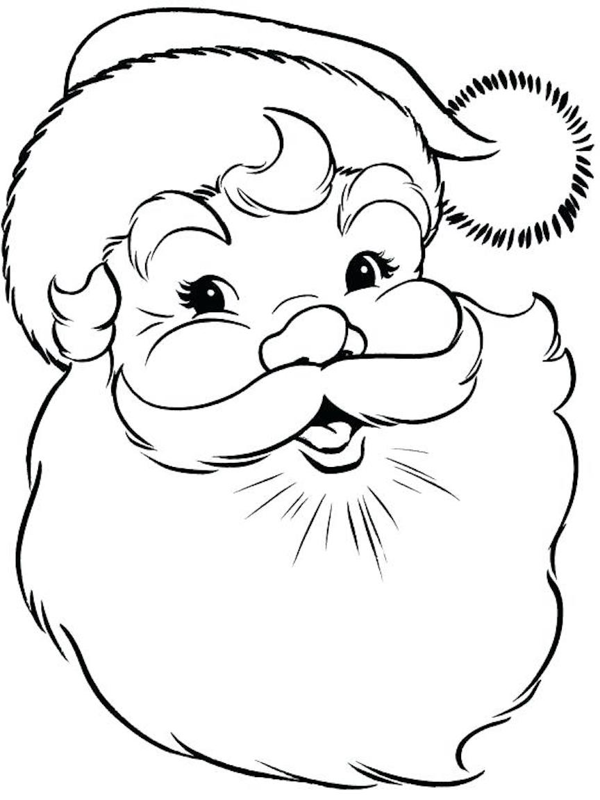 Santa Coloring Pages Christmas Symbols And Other Coloring Themes