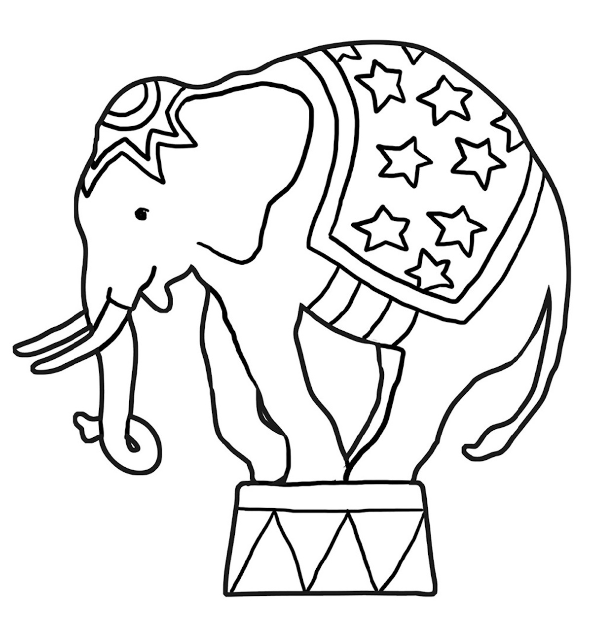 Elephant Clipart Coloring Pages And Dozens More Top 10