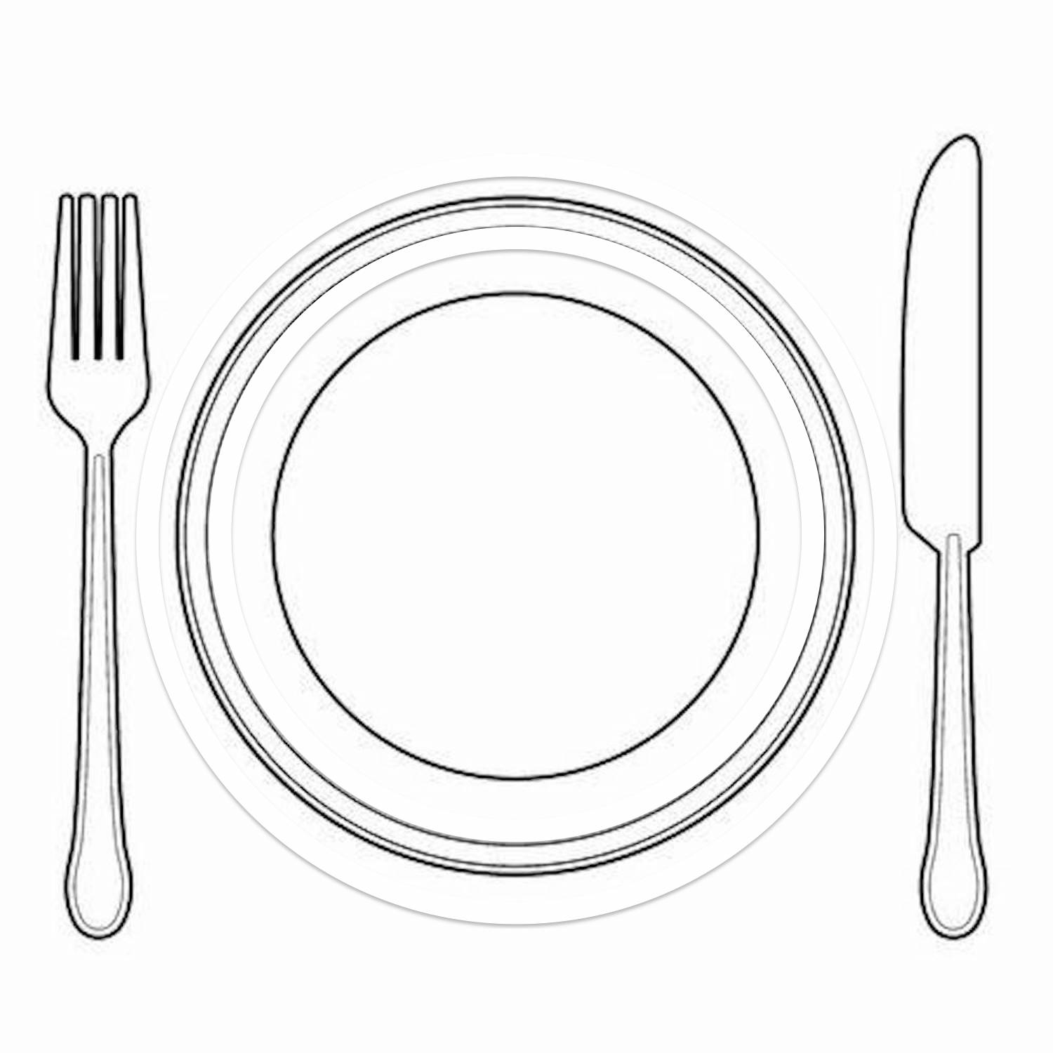 Plate Clipart Coloring Pages And Other Free Printable