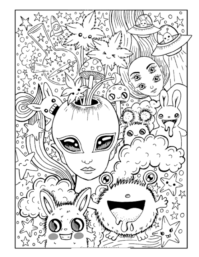 Trippy Coloring Pages And Other Top 29 Themed Coloring Challenges