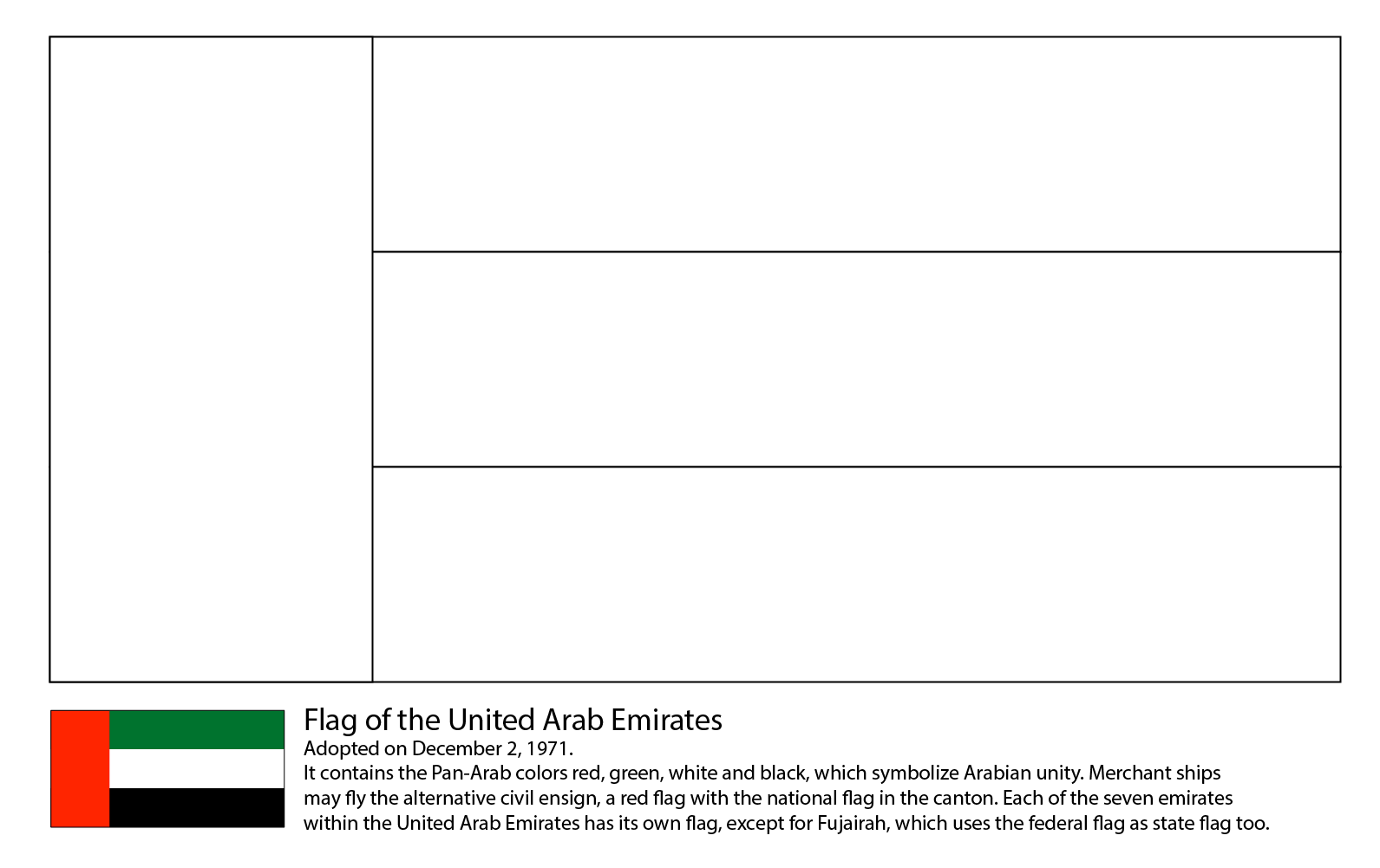 Uae Flag National Flags And Free Printable International