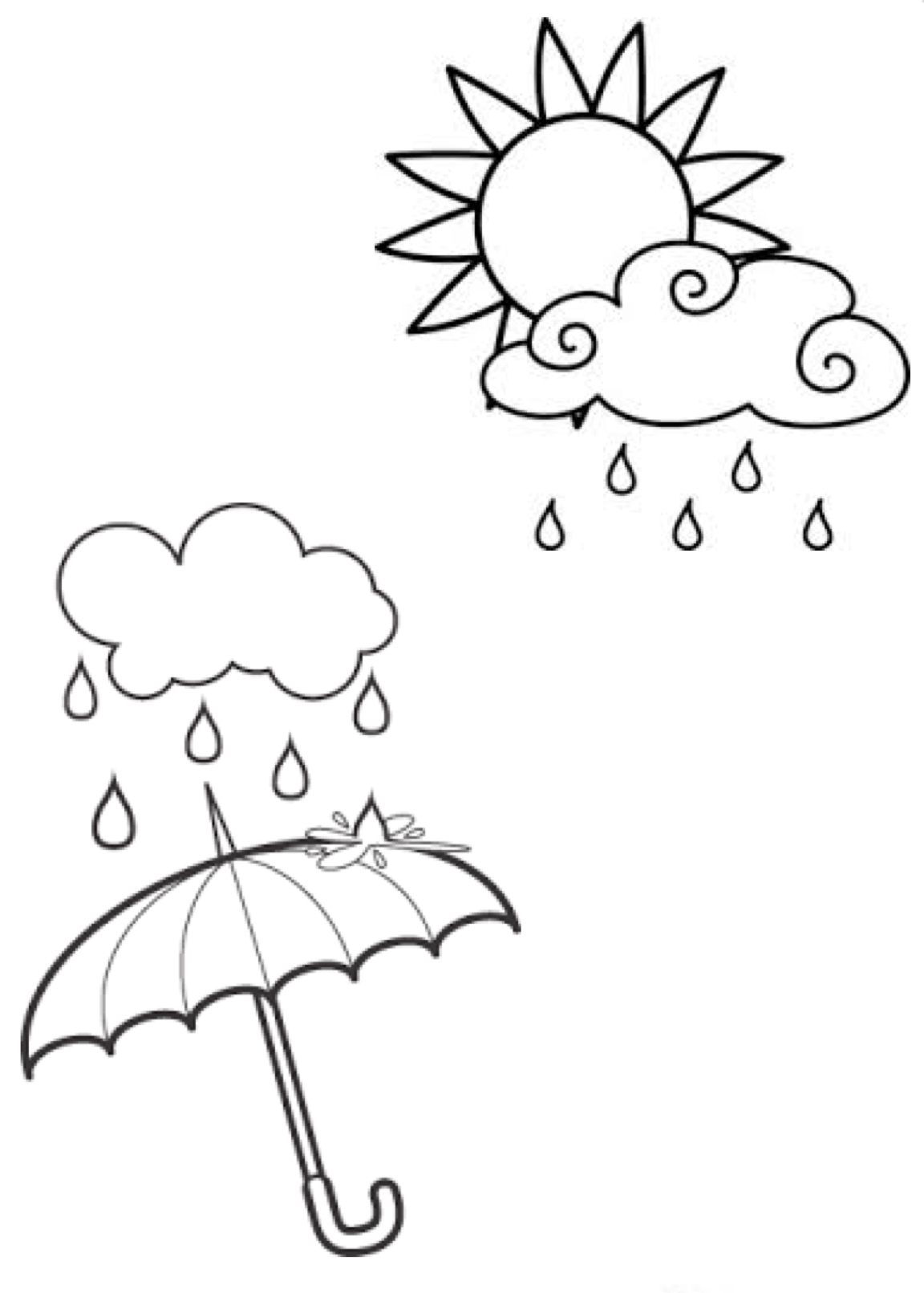 Umbrella Clipart Coloring Pages And More Free Printable