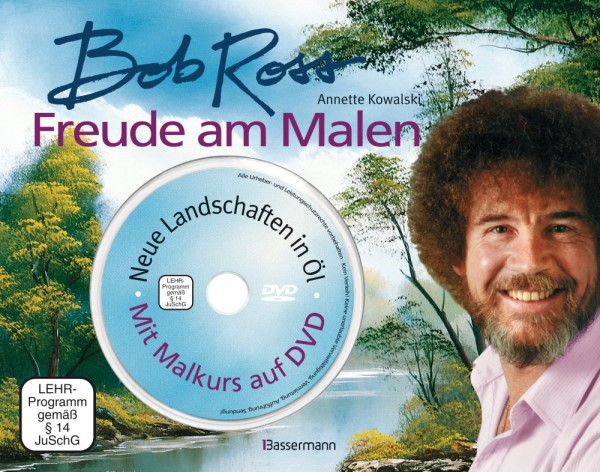 Neu Buch Bob Ross Freude Am Malen Happy Painting Olmalerei In