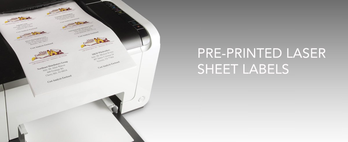 Pre-printed Labels for Printers
