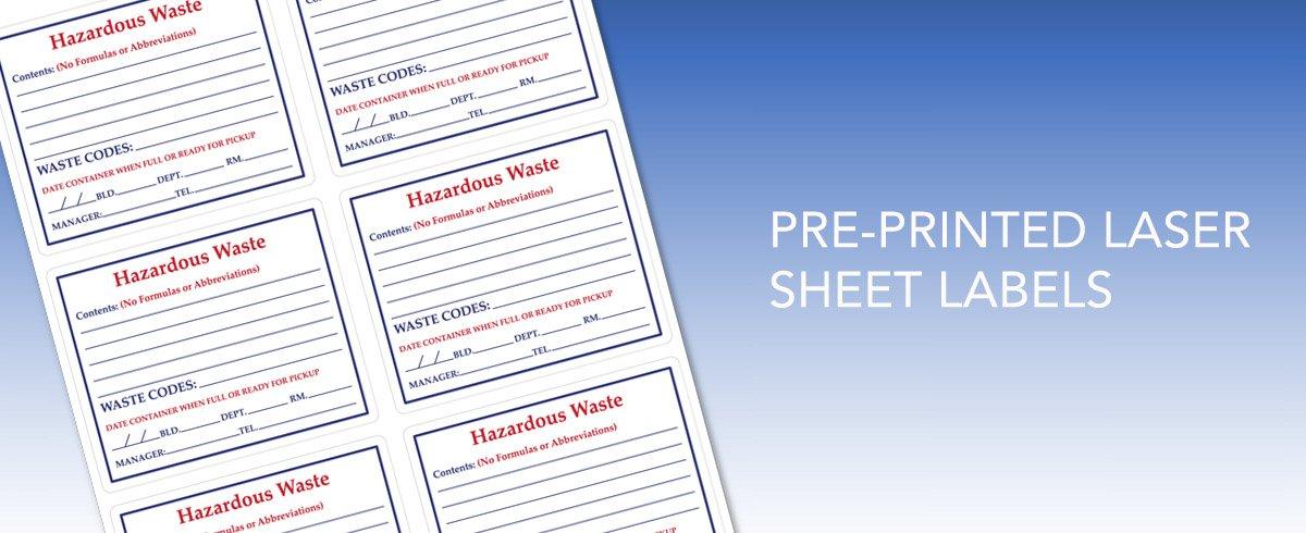 Pre-Printed Laser Sheet Labels