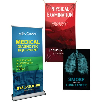 Banners for Medical & Healthcare Industry (Las Vegas, Bellevue, Kirkland)