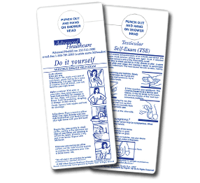 promotional breast self-exam card