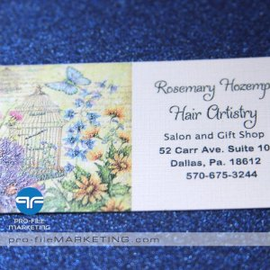 Full Color Raised Ink Business Cards