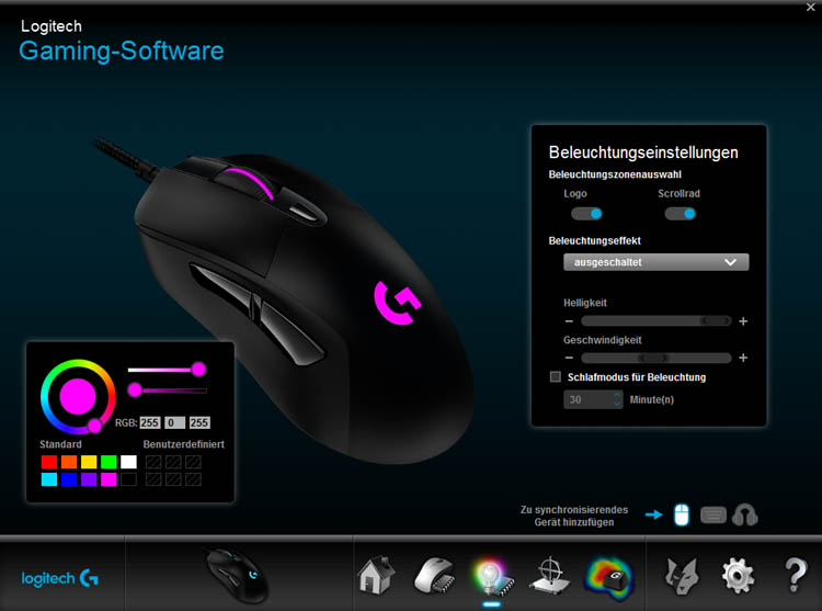 logitech g403 software