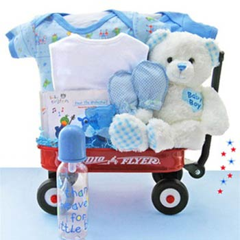 Baby Gift Baskets Baby Boy Radio Flyer Wagon