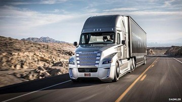 CGI Daimler's driverless truck in Nevada