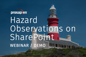 Hazard Observations on SharePoint - Webinar Recording