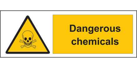 Dangerous </p> <p>Chemicals Safety Sign