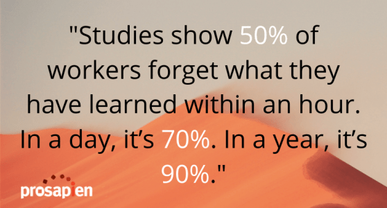 Blended learning can help workers retain their safety training.