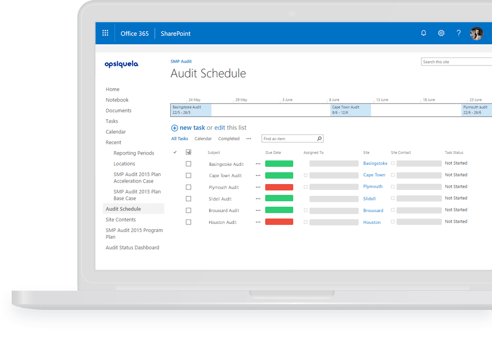 Audits & Inspections - EHS Software on SharePoint | Pro-Sapien