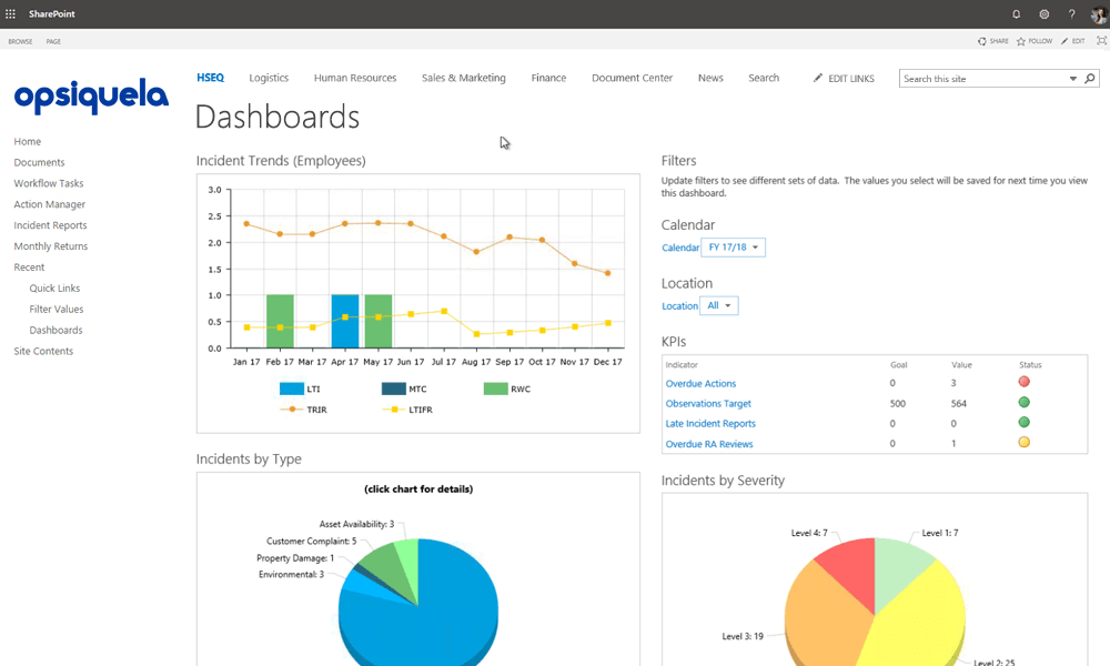 Get insights from your data in real-time dashboards