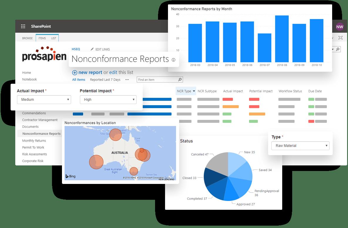 Nonconformance Management Software on Office 365