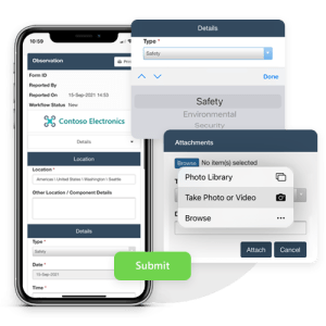 Report safety observations quickly with Pro-Sapien's simple form