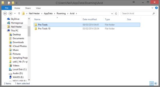 11Delete+Roaming+PT+Folder