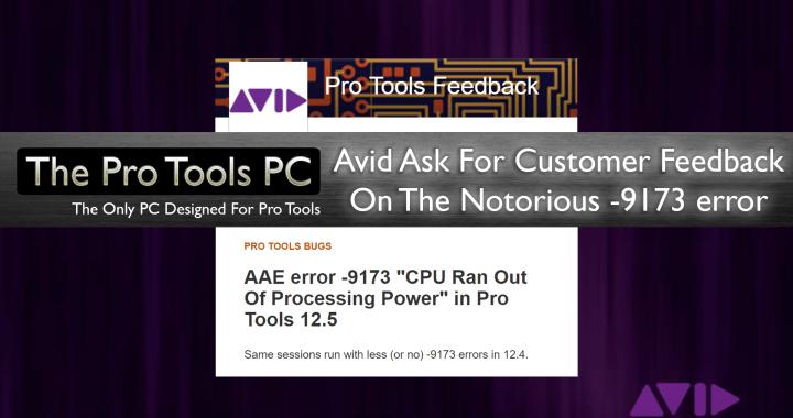 Pro Tools -9173 error