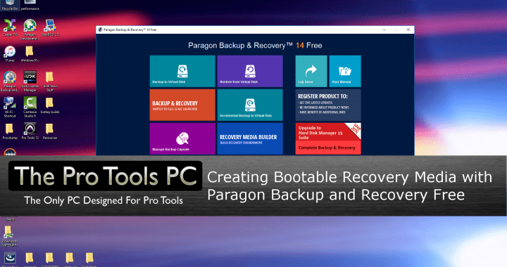 Paragon Recovery Media Builder