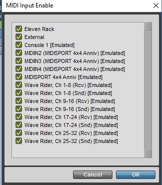 Pro Tools Midi Input Enable