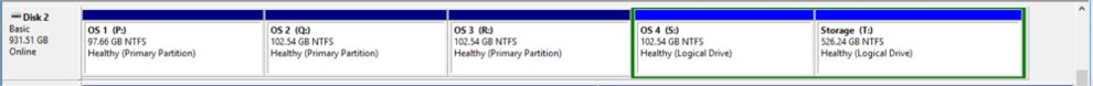 Many Partitions on the Same Drive