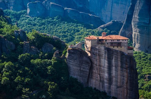 Метеоры в Греции Монастырь Варлаама