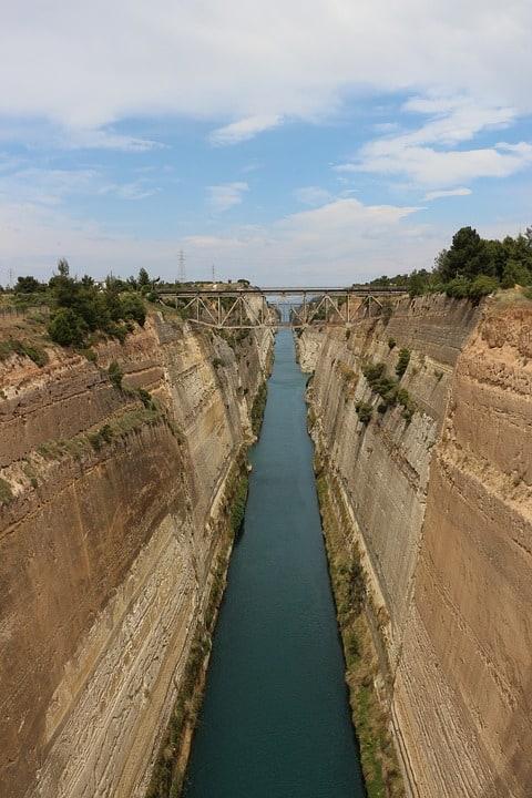 Коринфский канал (Греция): фото, история, интересные факты