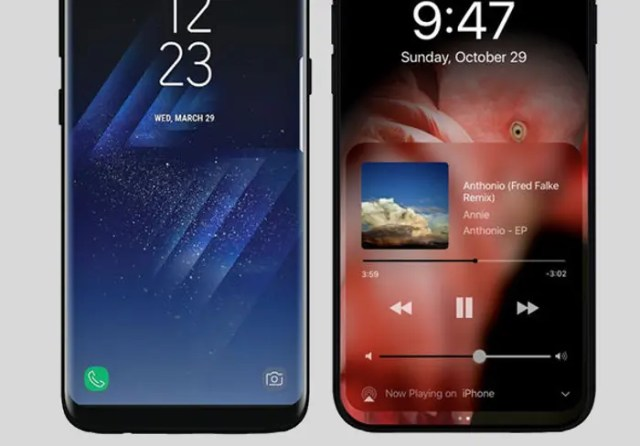 iphone ocho vs galaxy s8
