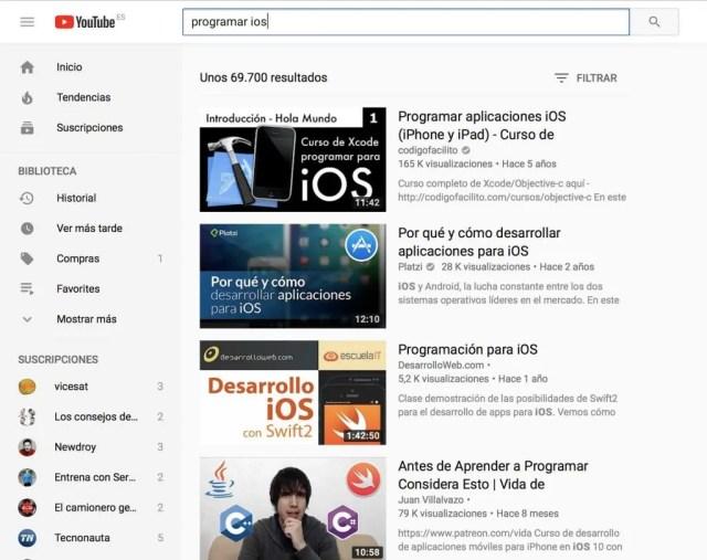 cursos iOS gratis youtube