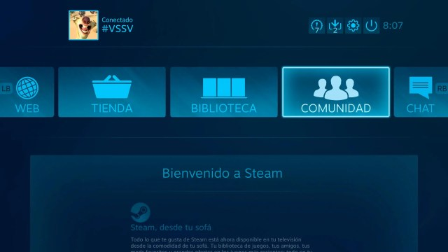 Interfaz Steam Link