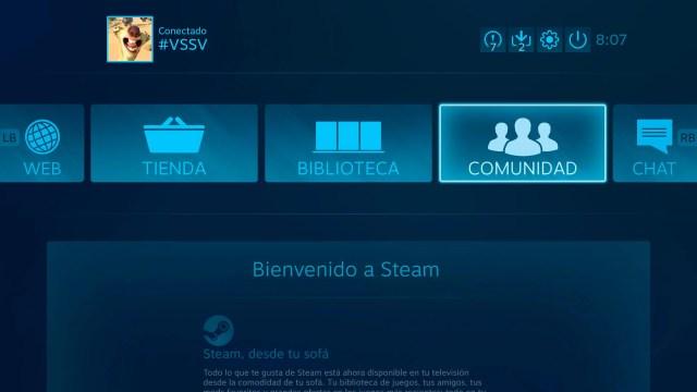 Interfaz Steam Link