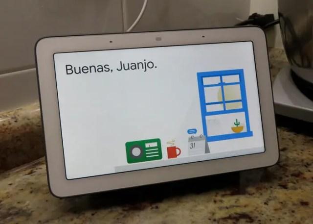 Google Nest Hub con <stro data-recalc-dims=