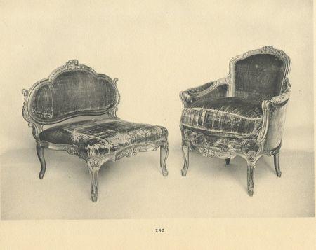 Chaise longue en deux parties, collection Jacques Doucet