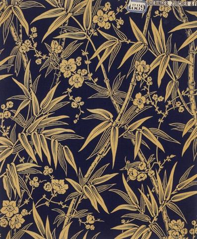 Echantillon pour l'ameublement, Alsace,1889 Impression à la planche sur toile de coton