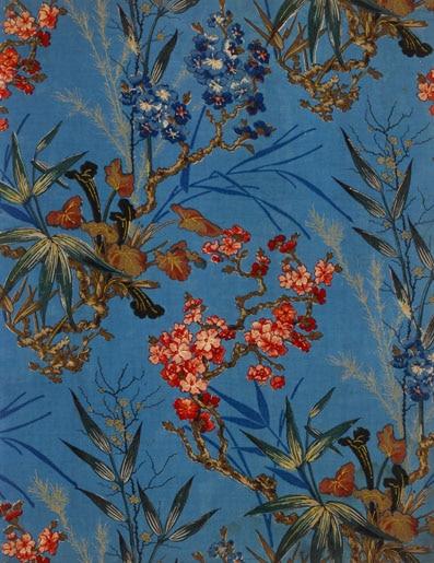 Echantillon pour l'ameublement, Alsace vers 1870,Impression au rouleau et à la planche sur toile de coton (c) Musée de l'Impression sur Etoffes de Mulhouse