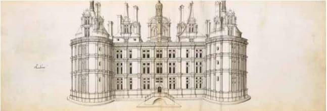 Recueil de dessins Jacques Androuet du Cerceau Orléans, aux alentours de 1550 Bibliothèque et archives du château de Chantilly