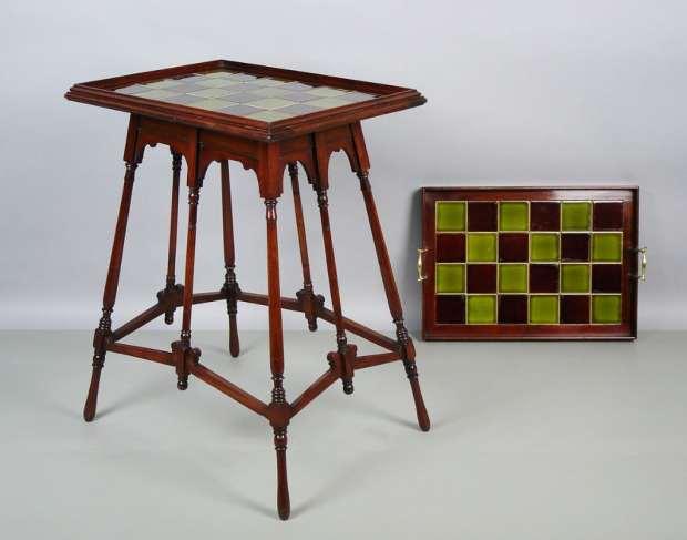 """Table à Thé """"arts & Crafts. (c) Pascale Drieux Antiquités"""
